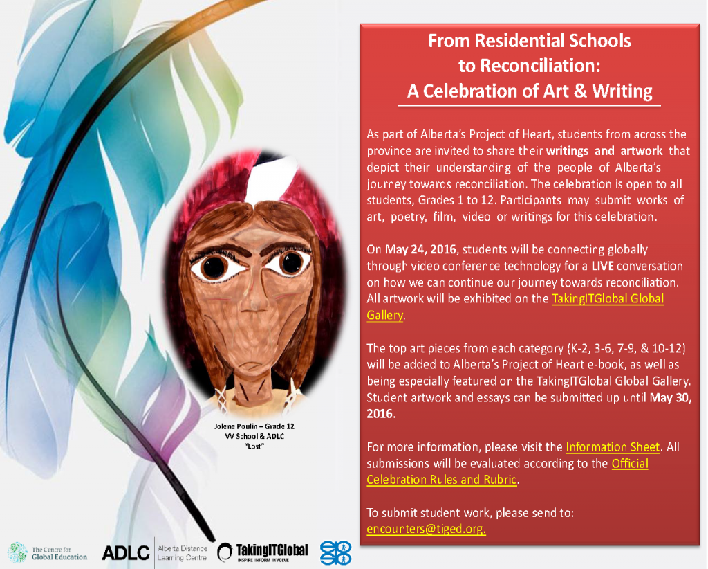 Residential School Art and Writing Celebration Poster